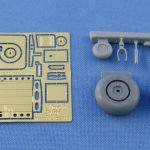 1/48 Focke Wulf Fw.189 Main and tail wheel and tail wheel bay set