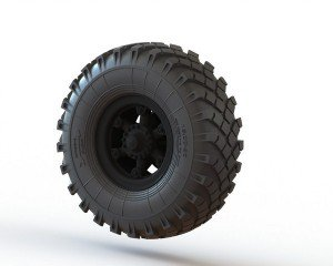 "Wheels set for KrAZ 214/YaAZ-214 1/35 (""Roden"" model kit)"