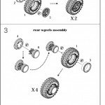 1/35 Set of wheels, front and rear hubs, 8 pcs. YA-190 tyres for KrAZ-214 (Roden model kit)