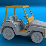 1/144 Toyota 2-TD-25 tow tractor (2 in 1)