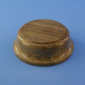 120 mm x 40 mm Round display base Nut-wood-tree