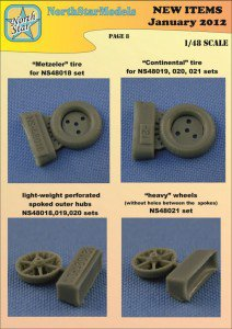 Difference between 1/32 Bf109 E, F and G wheels