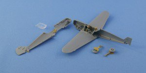 Phototetched detail set for Zvezda's 1/72 Bf-109F – test fit photo