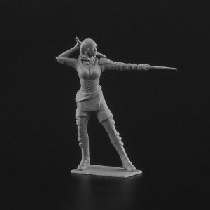 28 mm Pirate Girl resin figure