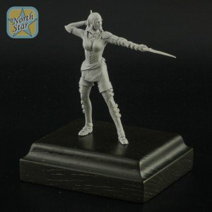 54 mm Pirate Girl resin figure