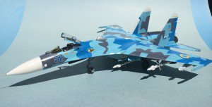 Finished Eduard 1/48 Su-27 with NSM exhaust nozzles