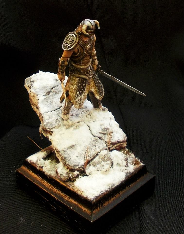 Painted DragonSlayer miniature by Ticos