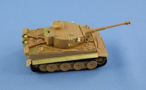 Test assembling photoetched set for Pz.Kpf.VI Tiger 1/72 Zvezda model kit