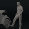 1/43 Resin figure of Mechanic (driver) type 3