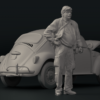 1/43 Resin figure of Mechanic (driver) type 4