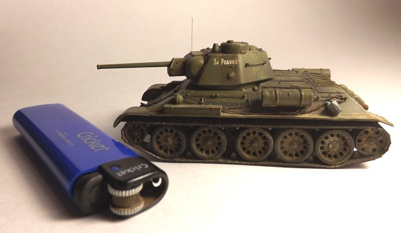 Finished Zvezda 1/72 T-34 with NorthStarModels photo etching set