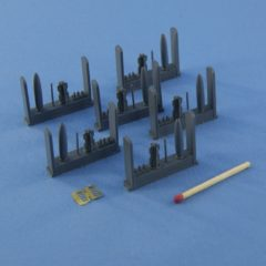 1/72 Set of 6 Mk-82  Snakeye bomb with Mk15 Mod IV Fin, 4 different nose