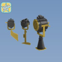 1/350 Set of 10 pcs. Royal Navy searchlights 20/10 inch