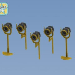 1/350 Set of 10 pcs. US NAVY searchlights 12 inch.