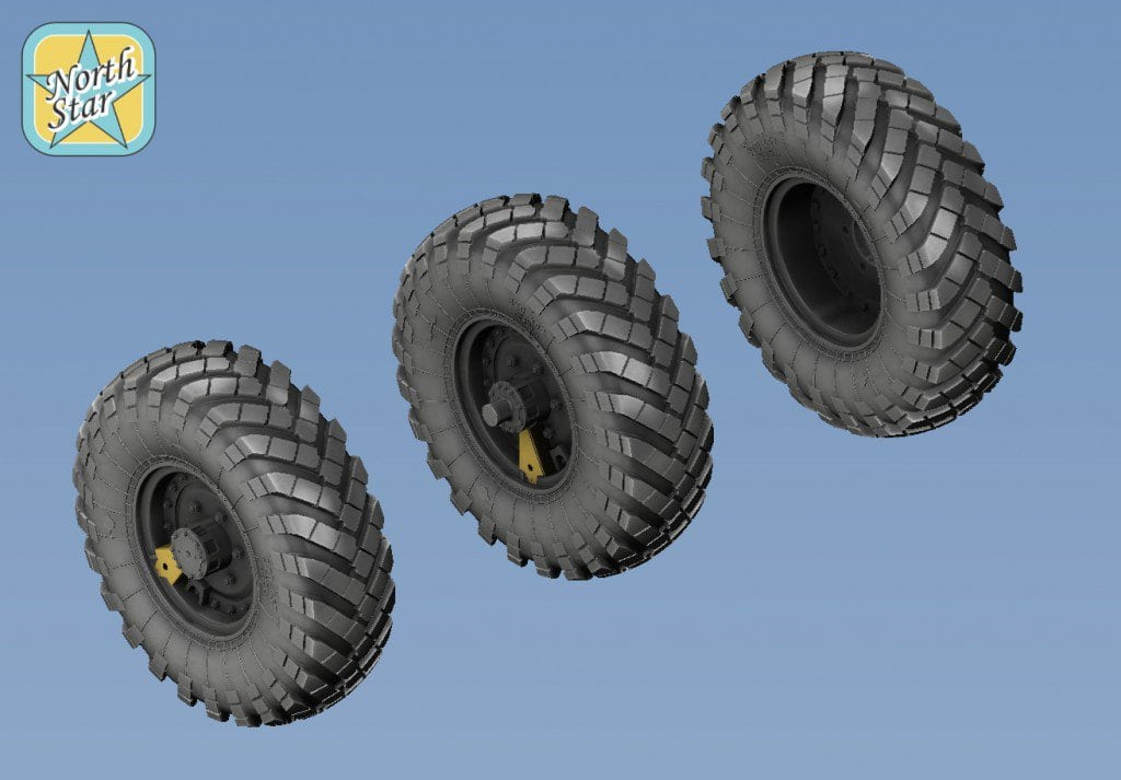 New product in 1/35 – Wheels set for ZiL-157 / BTR-152 No mask series