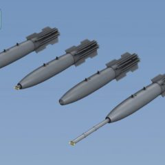 1/32 Set of 6 Mk-82  Snakeye bomb with Mk15 Mod IV Fin, 4 different noses NO DECAL