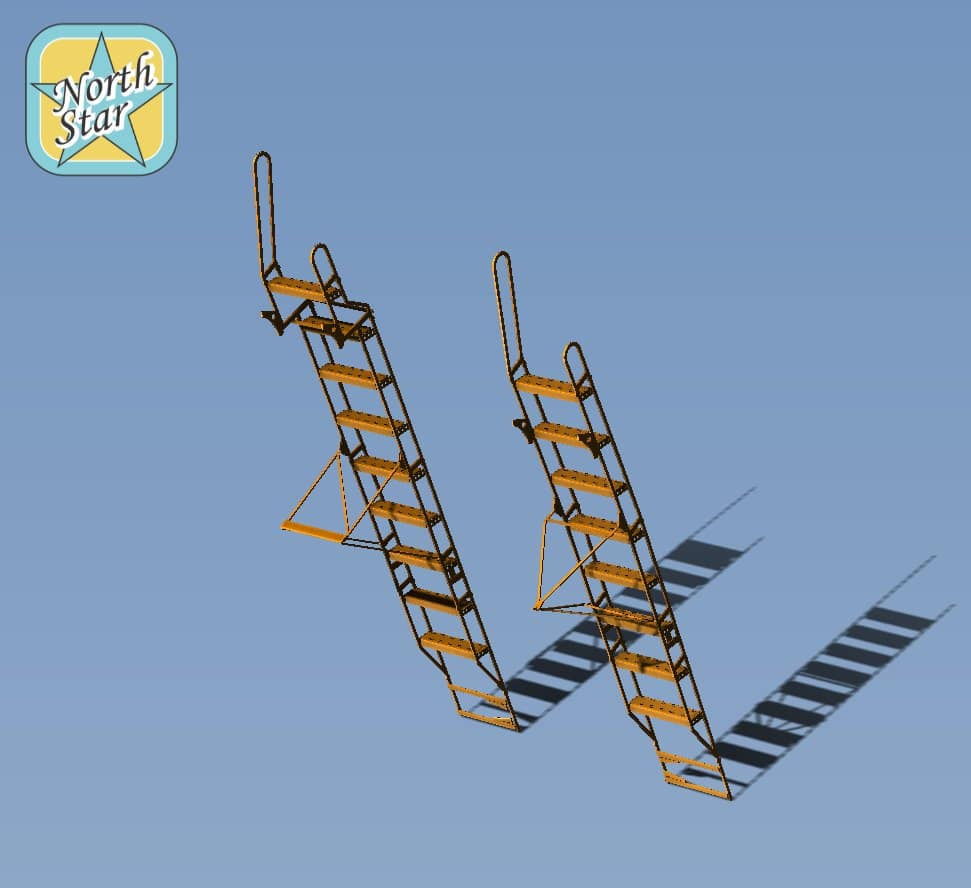 1/32 Two Ladders For Su-27UB Su-30 Two Seat Fighter Series