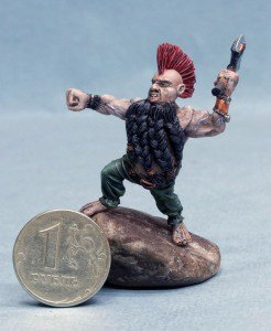 Painted 54mm Dwarf Berserker