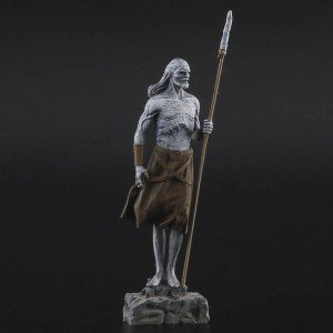 54 mm Painted Snow Walker figure with wooden base