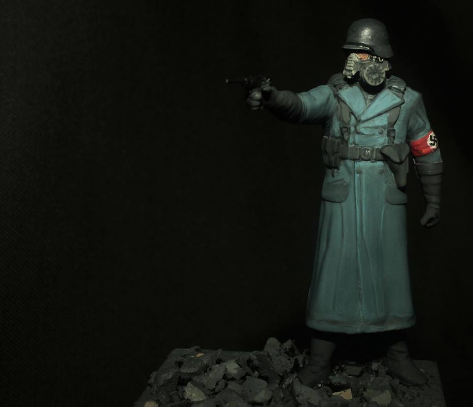 Painted 54mm Nazi from the Moon