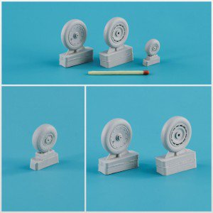 1/32 Focke-Wulf Fw.190 A/F/G/D wheels, late disk Continental tire (smooth) – Light series