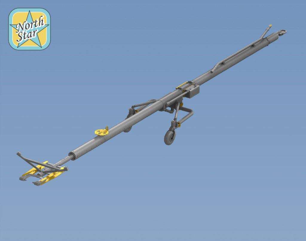 Su-27 Airfield Tow bar set in 1/32 and 1/48 scale