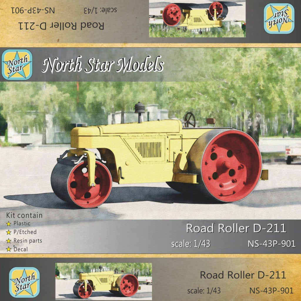 Preorder Soviet Road roller D-211 in 1/43 scale at a discount – 16 USD only until July 10