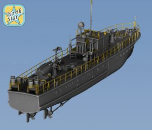 Coming soon – plastic model of Soviet WWII MO-4 type small guard ship in 1/200 scale