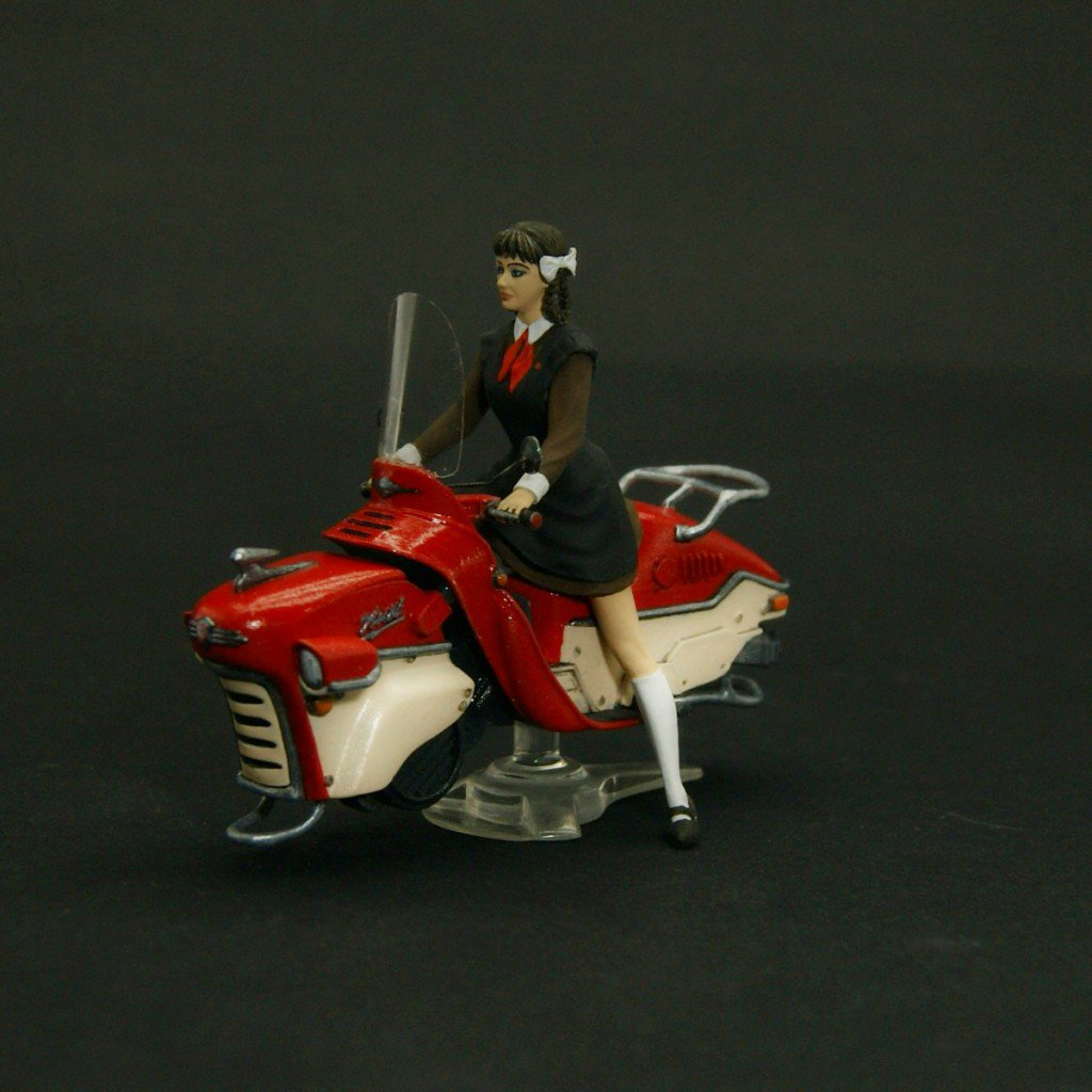New 54 mm set – Soviet Pioneer Girl on the Hoverbike