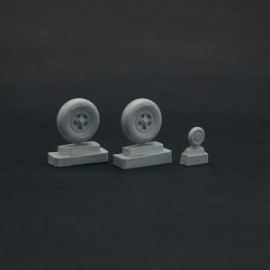 1/32 Spitfire wheels set 5 spoke, smooth tire  Light series