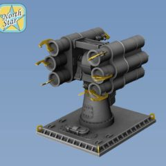 1/350 RBU-1000 Smerch-3 set parts for 4 launchers