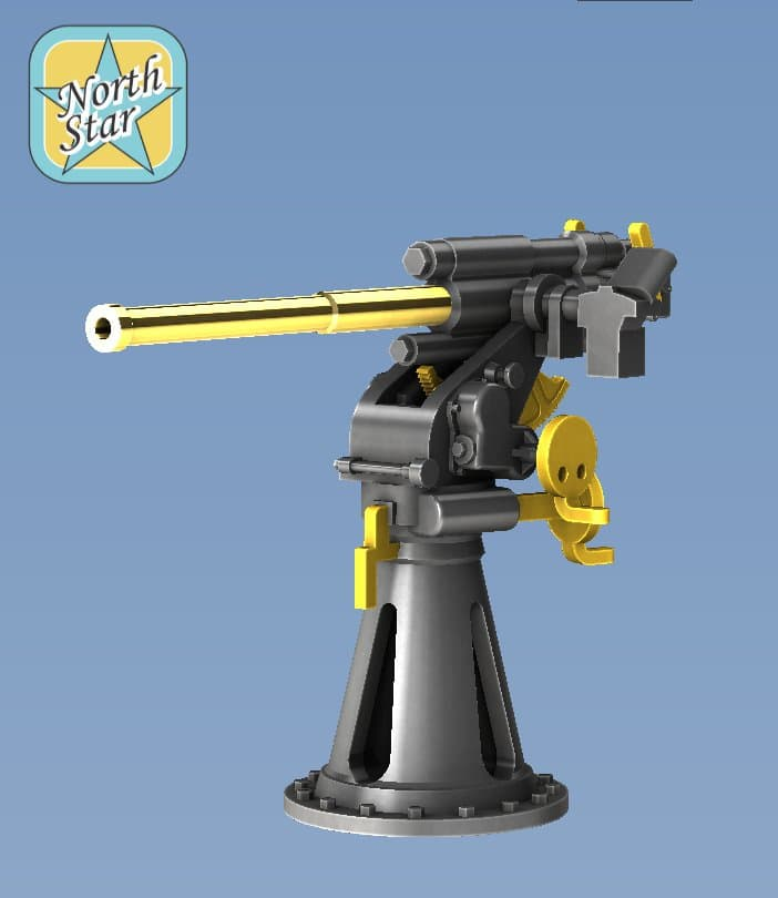 New Guns in 1/350 and 1/200 scale