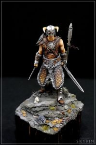Painted 54mm Dragon Slayer vignette