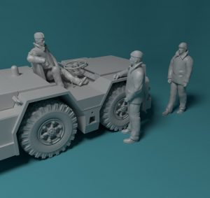 1/144 new items in catalog – Soviet deck tractor and WWI Armoured car