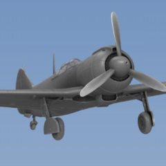 1/144 Soviet WWII Fighter La-5 FN resin model Update version