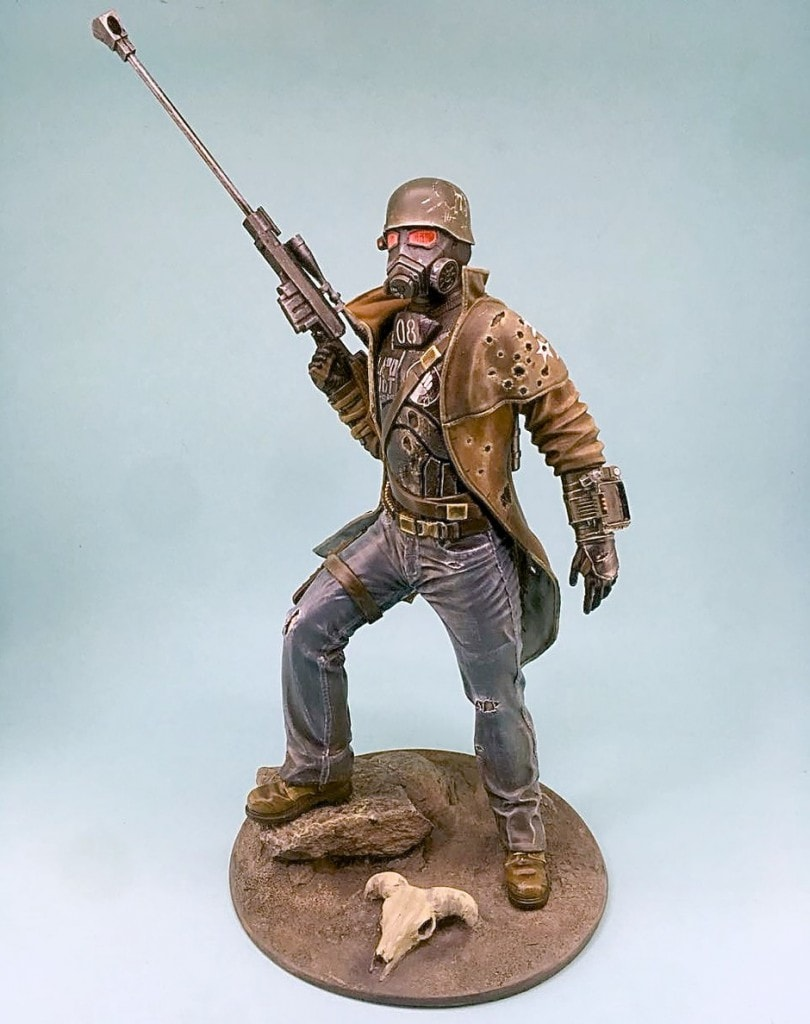 Support Fallout: New Vegas NCR Sniper 1/6 resin figure creation