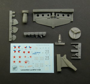 Updated resin model of 1/144 La-5 in stock