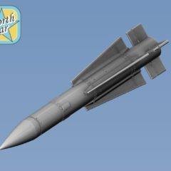 1/144 AIM-54 Phoenix air-to-air missile 2 pcs in set