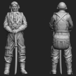 1/144 WWII IJN Fighter Pilot resin figure – 2 pcs in a set