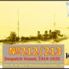 Combrig 1/350 №212/213 dispatch vessel 1914-1925, resin kit #35151WL/FH