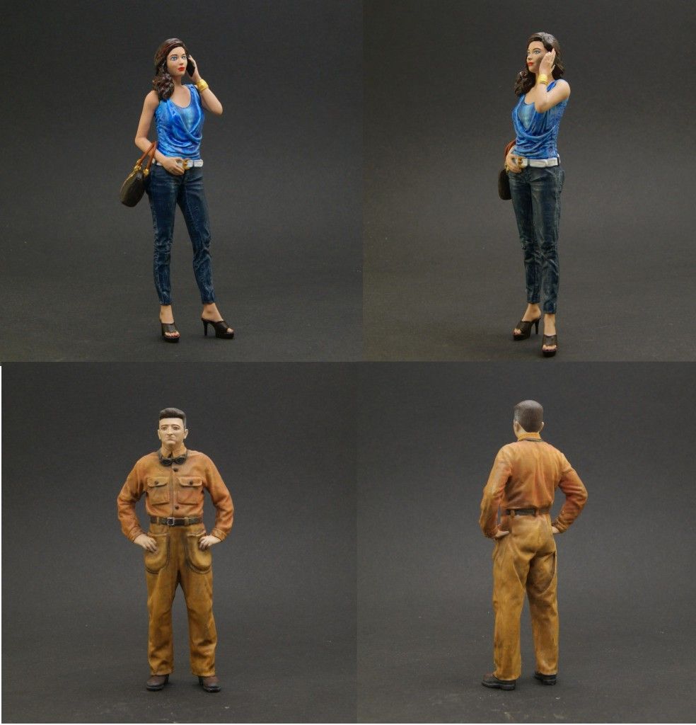 New 1/18 figures for car models collectors