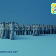 1/144 Imperial Japanese Navy WW2 Parade 3D Figures