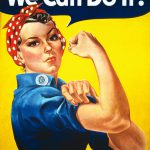 "1/24 handpainted figure Rosie the Riveter girl – ""We can do It!"""