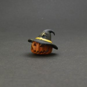 Limited Halloween 2020 – Halloween Pumpkin with witch handpainted