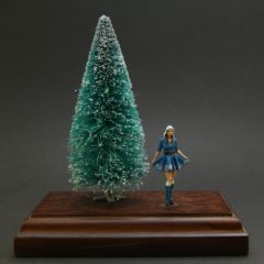 1/43 scale – Girl in a Christmass dress – Blue
