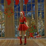 1/43 scale – Girl in a Christmass dress – Red