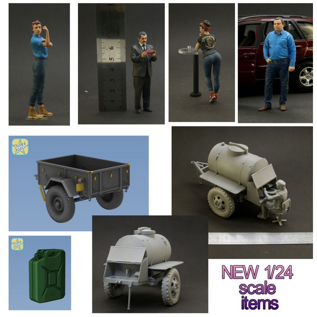 NEW 1/24 items – resin sets and figures