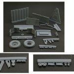 1/24 GAZ-704 Soviet Light trailer resin model kit