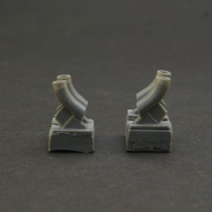 1/35 Exhaust pipes for T-34  and all types of vehicles on these bases. 4 pcs in a set