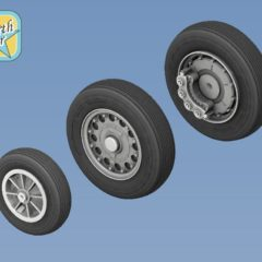 1/48 SAAB J-35 Draken wheels set – No Mask series